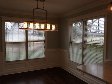 "New construction 2"" Faux wood blinds in Coffee County."