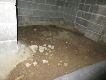 The Plastic Vapor Retarder was missing on the crawl space floor at this home we inspected in Winchester, TN.