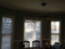 "Bay Window - 2"" Faux Wood Blinds"