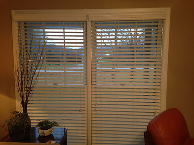 "White 2"" Faux Wood Blinds