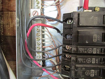 While performing the electrical inspection, we noticed scorched wiring inside the electric panel.  This home inspections was performed in Winchester, TN.