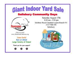 Salisbury Community Days- Indoor Yard Sale!