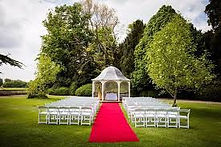 Outdoor wedding at Prestwold Hall