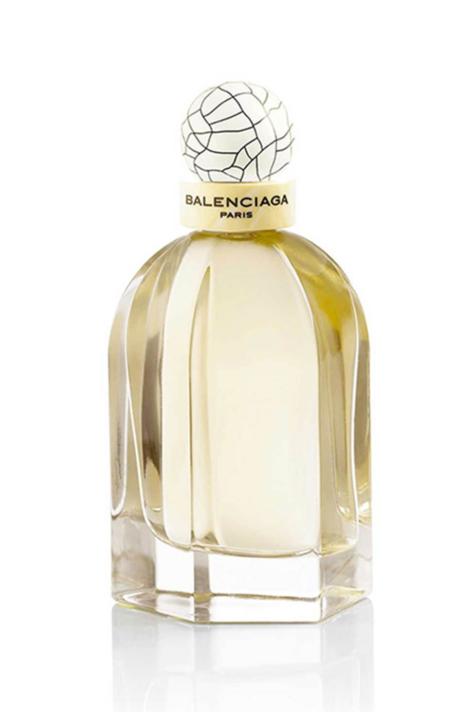 Minimalist and fragrant Balenciaga Paris EDT is a great wedding day perfume.