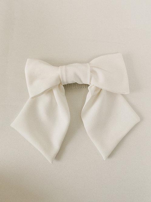 The Mini Bridal Bow Luxe Crepe