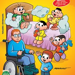 Bienal do Livro de São Paulo: Mauricio de Sousa apresenta nova revista com o Edu, personagem com DMD