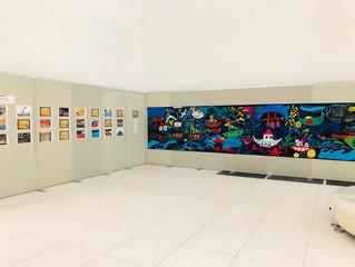 ほうかご美術の教室で仕上げた壁画展示のお知らせ