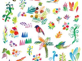 鳥たちのテキスタイル
