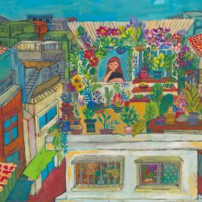 今月「かふう」連載『十二色の家』の絵について