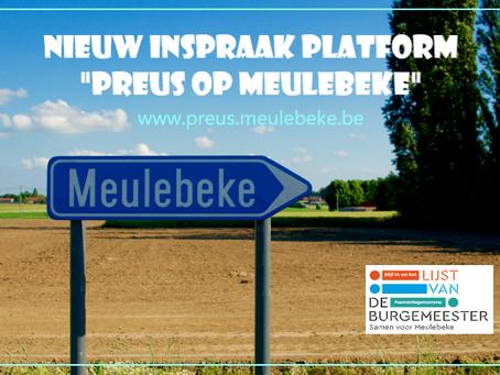 """Nieuw inspraakplatform """"Preus op Meulebeke"""" !!"""