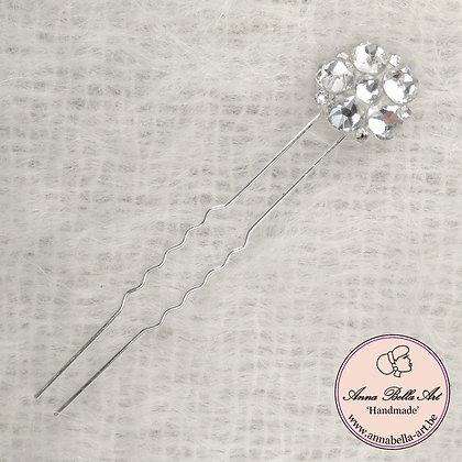 Bloemhaarspeld Swarovski Diamant Kathy 2,5 cm