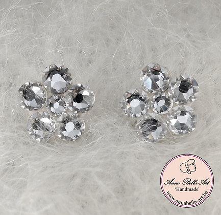 Bella Kathy 1,5 cm Bloemoorbellen Swarovski Diamant
