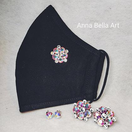 Art Line mondmasker met echte Swarovski - combinatie regenboog & diamant
