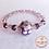 Thumbnail: Anna Line Armband Indy - Swarovski kristal, Glasparel en zilver - Paars/lila
