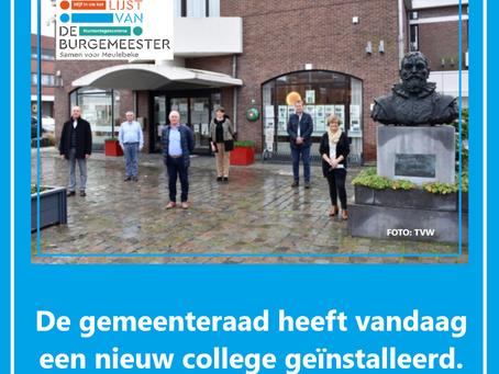 De gemeenteraad heeft vandaag een nieuw college geïnstalleerd !!
