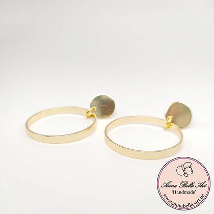 Anna Line cirkel oorbellen - goudkleur