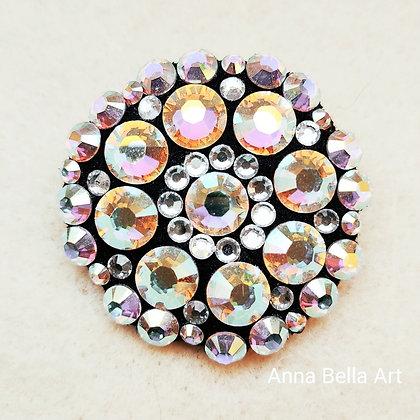 Bella Line Broche/sierspeld Barbara - Swarovski - Diamant & regenboogkleur