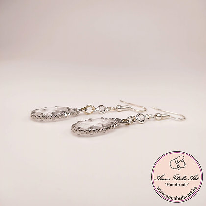 Anna Line kristal druppel oorbellen - Transparant - Zilver met extra afwerking