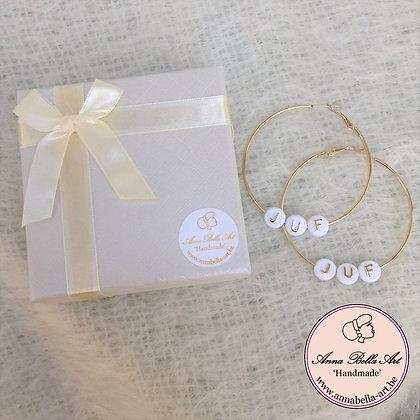 JUF oorbellen - goud 3,5cm