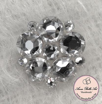Bloembroche/sierspeld Swarovski Diamant Kathy 3cm
