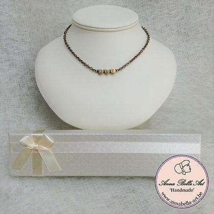 JUF halsketting gepersonaliseerd - brons