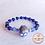 Thumbnail: Anna Line Armband Indy - natuursteen en Swarovski kristal - diep koningsblauw