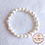 Thumbnail: Anna Line Armband - Zoetwaterparel - wit