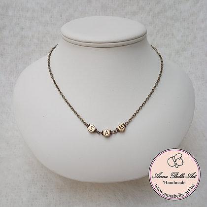Gepersonaliseerde halsketting - brons