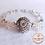 Thumbnail: Anna Line Armband - Swarovski kristal, natuursteen en zilver - Grijs-Indy