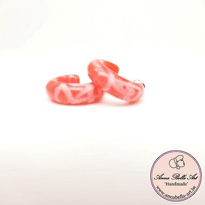 Anna Line hand gegraveerde ring oorbellen - rood