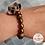 Thumbnail: Anna Line Armband - Bloem, glasparel, hout en brons