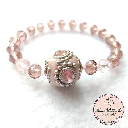 Anna Line Armband - Swarovski parels - licht & vieux roze samen - Indy