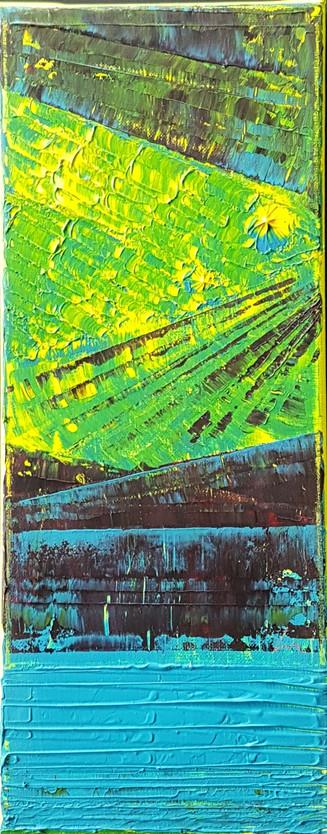"""Collection """"Les couleurs"""" - 2019 Peinture sur toile - 50*20*2 cm - acrylique, Techniques mixtes"""