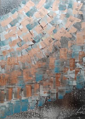Collection 'Art Abstrait d'un nouveau genre' - 2019 Peinture sur bois - acrylique, aérosol - 24*30*4cm