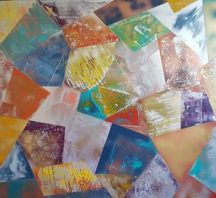 Collection 'Symphonie de couleurs 2' - 2020  Peinture sur toile -acrylique, aérosol - 110*120*2 cm