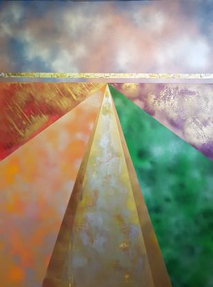 Collection 'Symphonie de couleurs 2' - 2020  Peinture sur toile -acrylique, aérosol - 160*120*2 cm