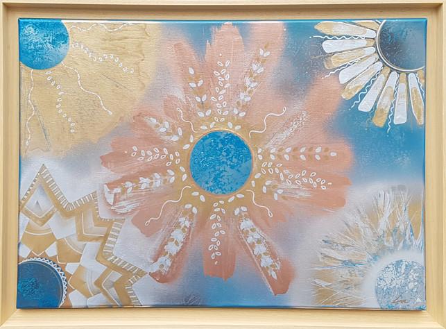 """""""Maroc et ocres"""" Collection 'Carnet de voyages' * 2019 Peinture sur toile - acrylique, aérosol - 50*70-2cm"""