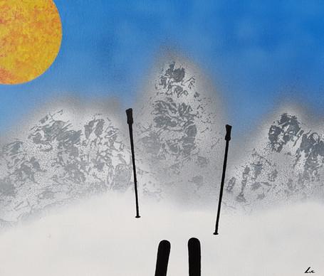 """""""Panorama"""" Peinture sur carton entoilé - acrylique - 45*55 cm"""