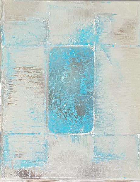 Collection 'Art Abstrait d'un nouveau genre' - 2018 Peinture sur toile - acrylique, aérosol - 24*30*2cm