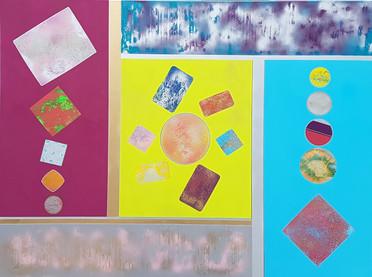 Collection 'Entre cubisme et space painting' - 2019 Peinture sur toile -  acrylique, aérosol - 160*120*2cm