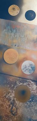Peinture sur toile - acrylique - 30*90cm Collection 'Art Abstrait d'un nouveau genre' - 2019
