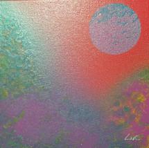 """""""Montagnes colorées"""" Collection 'Montagne et fun' - 2018 - Peinture sur toile - acrylic - carré 20*20cm"""