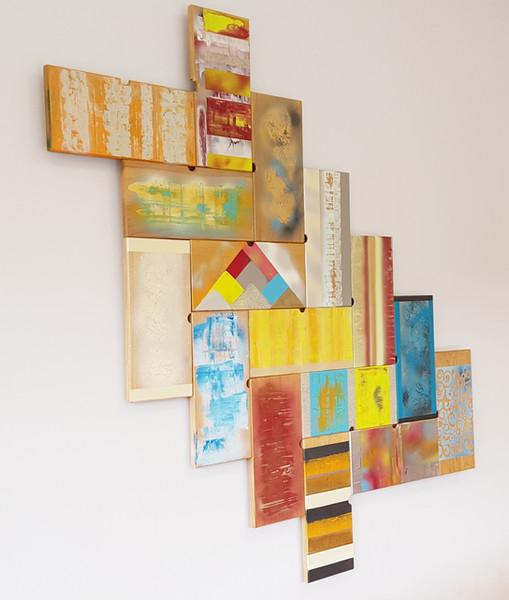 Œuvre 'Recycling art' pour entreprise