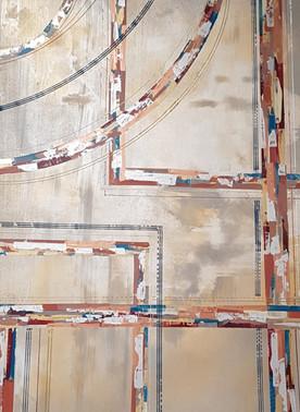 Peinture sur bois - acrylique - 50*70*3cm Collection 'Art Abstrait d'un nouveau genre' - 2019