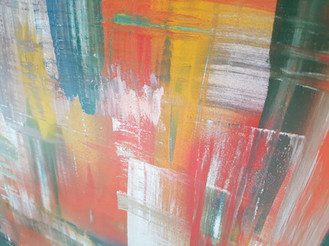 Collection 'Symphonie de couleurs 2' - 2020 Peinture sur bois -acrylique, aérosol - 70*50*2 cm