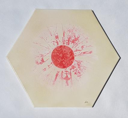 Collection 'Art abstrait d'un nouveau genre' - 2018 Peinture sur toile - châssis hexagonal côté 25cm L50cm l50cm P2cm - acrylique, aérosol