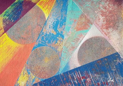 Collection 'Les Couleurs' - 2018 Peinture sur carton entoilé - acrylique, aérosol - 33*24cm