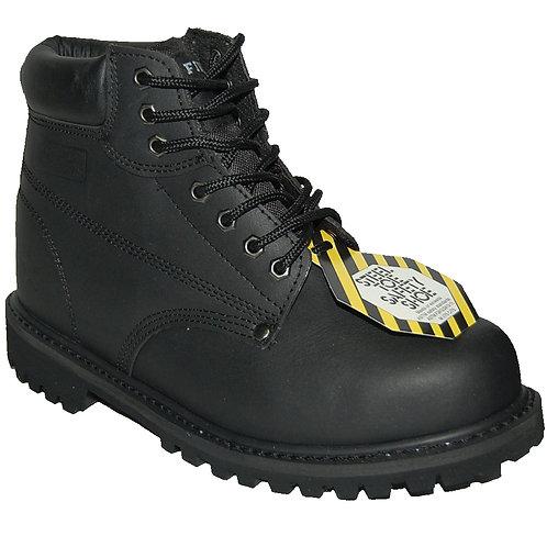 IronMan Black Steel Toe Men's Work Boot