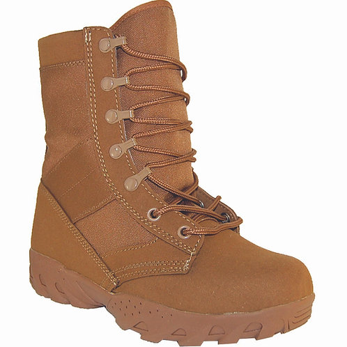 Hawk Men's 8 inch Brown Suede Leather Lace Up, Side Zipper Jungle Boot