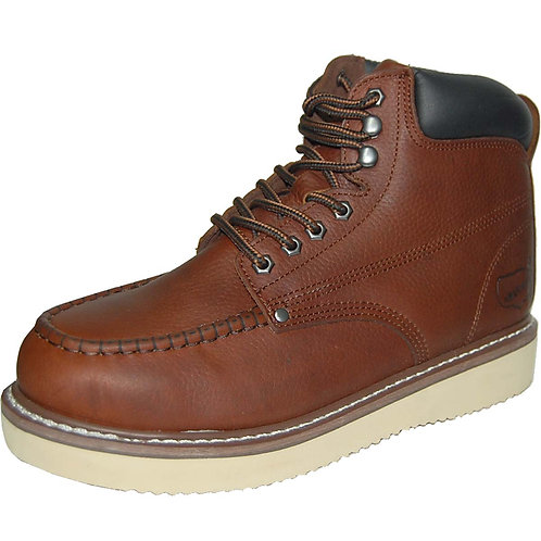 MadMax Men's Genuine Leather Soft Toe Brown Rugged Workboot